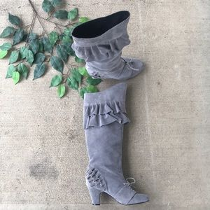 Due Farina Oriana Suede Boots from Anthropologie